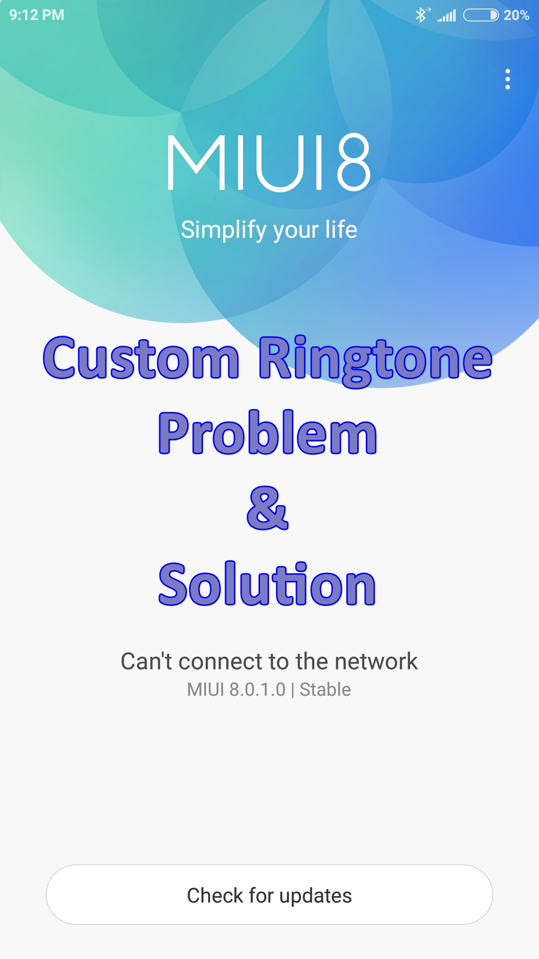 MIUI 8 Ringtone Issue Solved